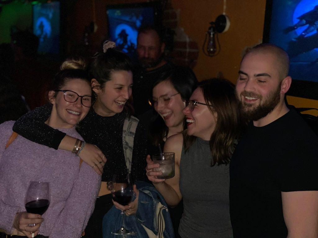 Friends at the Monte Vista Hotel in flagstaff
