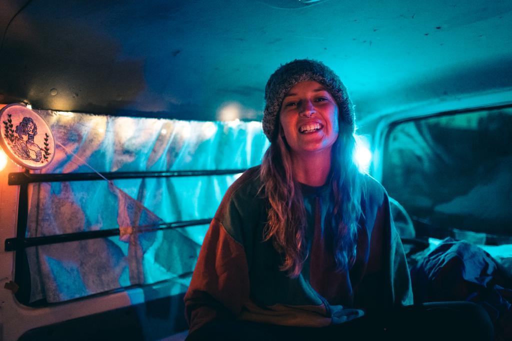My camping in my van